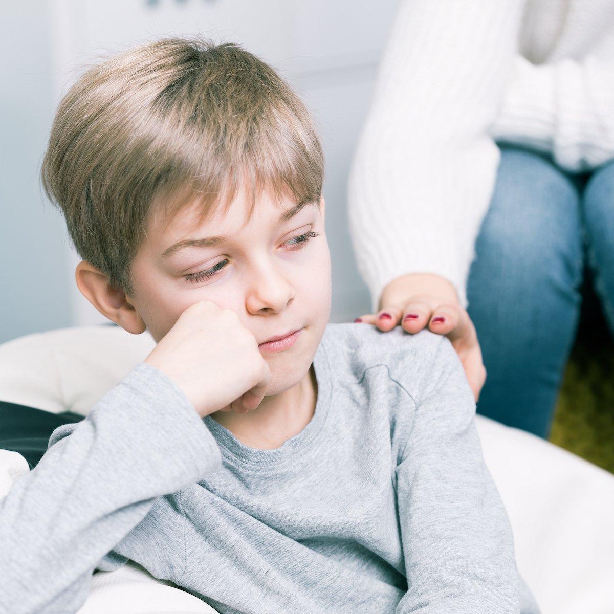 Sad boy in need of child therapy, New City, NY
